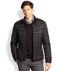 Saks Fifth Avenue Collection Modern Fit Quilted Puffer Jacket
