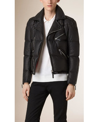 Burberry Down Filled Lambskin Biker Jacket