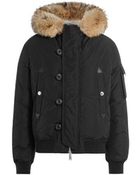 DSQUARED2 Down Jacket With Fur Trimmed Hood