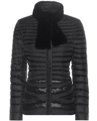 Salvatore Ferragamo Down Jacket With Mink Fur Collar
