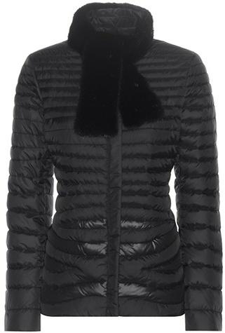 Salvatore Ferragamo Down Jacket With Mink Fur Collar