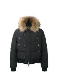 DSQUARED2 Fur Hood Puffer Jacket