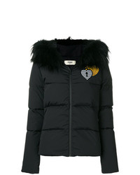 Fendi Heart Embroidered Padded Jacket