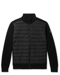 Canada Goose Hybridge Slim Fit Merino Wool And Quilted Nylon Down Jacket