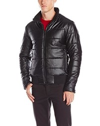 DKNY Jeans Coated Puffer Bomber Jacket