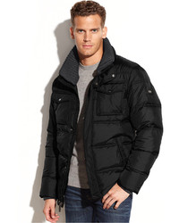 Calvin Klein Knit Collar Puffer Jacket