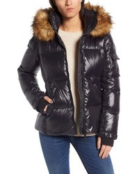 Kylie faux fur trim gloss puffer jacket medium 5387789