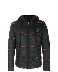 Plein Sport Logo Trimmed Padded Jacket
