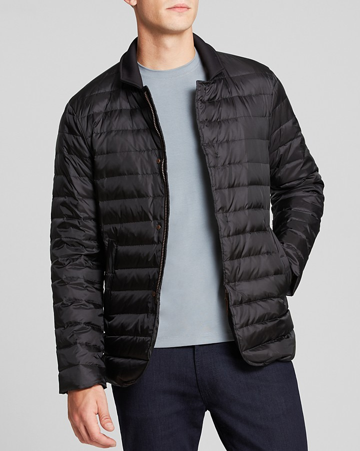 Armani Collezioni Microfiber Quilted Puffer Jacket Where To Buy
