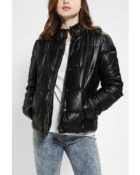 Sparkle & Fade Missy Vegan Leather Puffer Jacket