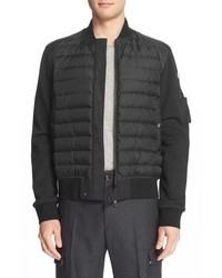 Mixed media quilted down jacket medium 615450