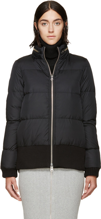 Mm6 Maison Margiela Black Quilted Down Jacket | Where to buy &amp how
