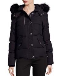 Moose Knuckles 3q Fox Fur Trim Down Puffer Jacket