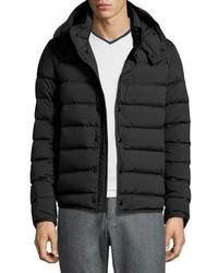 Nazaire lightweight hooded puffer jacket black medium 707283