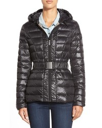 DKNY Packable Belted Hooded Down Jacket