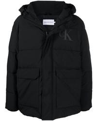 Calvin Klein Jeans Padded Logo Print Coat