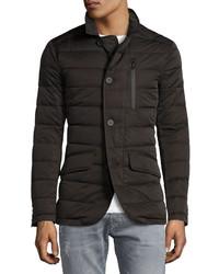 T Tahari Quilted Down Jacket Black