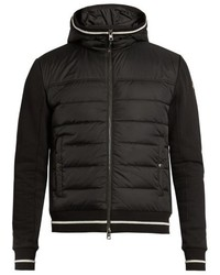 Moncler Quilted Down Panel Hooded Jacket