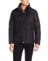 Calvin Klein Quilted Puffer Jacket With Removable Knit Collar