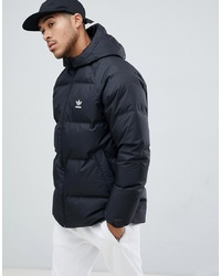 adidas Originals Reversible Hooded Down Puffer Jacket In Black Dh5003