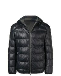 Eleventy Reversible Padded Leather Jacket