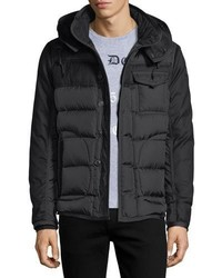 Moncler Ryan Mixed Media Down Jacket