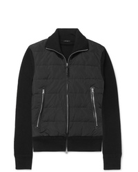 Tom Ford Slim Fit Merino Wool And Quilted Shell Down Cardigan