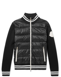 Moncler Slim Fit Quilted Shell And Jersey Down Jacket