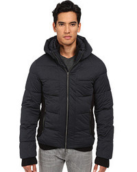 Armani Jeans Stretch Nylon Puffer Jacket With Built In Mittens