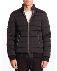 Emporio Armani Technical Effect Puffer Bomber Jacket