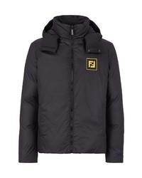 Fendi Water Splash Reversible Down Hooded Jacket