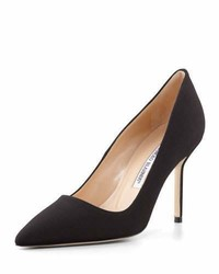 Manolo Blahnik Bb Crepe 90mm Pump Black