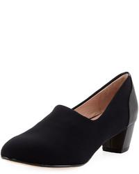 Taryn Rose Fiona Stretch Low Heel Pump Black