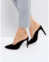 Asos Peek A Boo Mule High Heels
