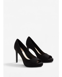 Mango Peep Toe Pumps