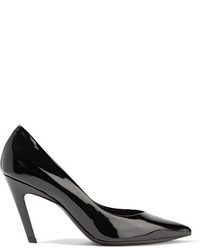 Balenciaga Slash Patent Leather Pumps Black