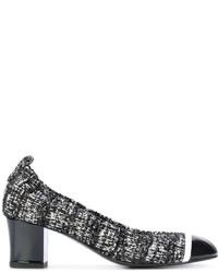 Lanvin Textured Block Heel Pumps