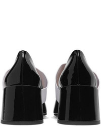 Givenchy Two Tone Patent Leather Pumps Black