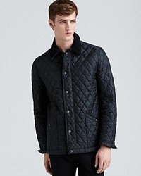Black Quilted Barn Jacket