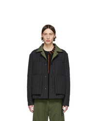 Craig Green Black And Green Quilted Worker Jacket