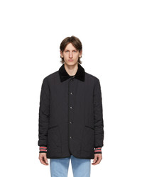 Burberry Black Quilted Barn Varsity Coat
