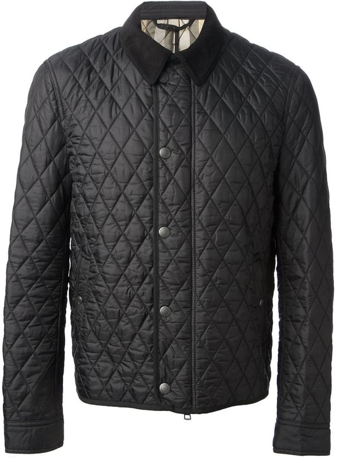 Black Quilted Barn Jacket: Burberry Brit Quilted Jacket ...
