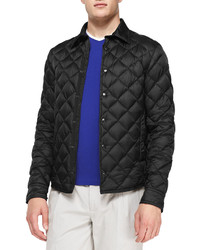 Frederic diamond quilted jacket black medium 145599