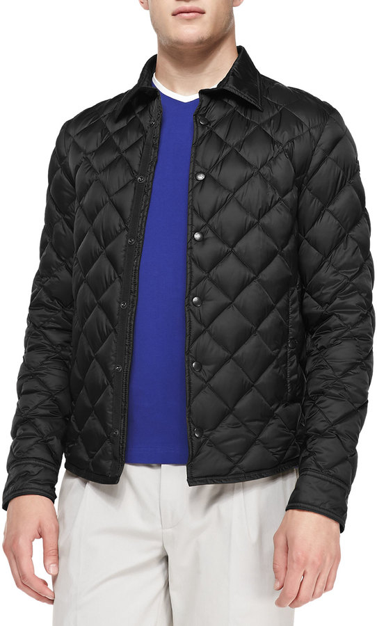 Moncler Frederic Diamond Quilted Jacket Black | Where to buy & how ...
