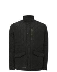 M&Co Trespass Argyle Quilted Jacket Black M