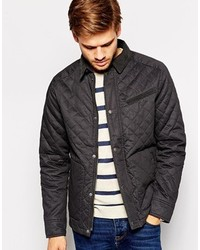 Selected Quilted Jacket With Cord Collar
