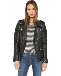 Motorcycle jacket with quilted stripes medium 529433