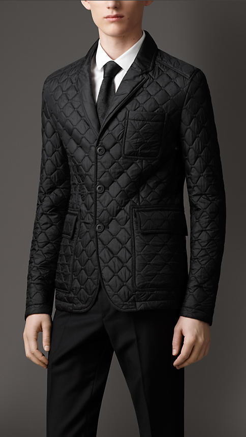 Burberry Leather Detail Quilted Blazer | Where to buy & how to wear : quilted blazer - Adamdwight.com