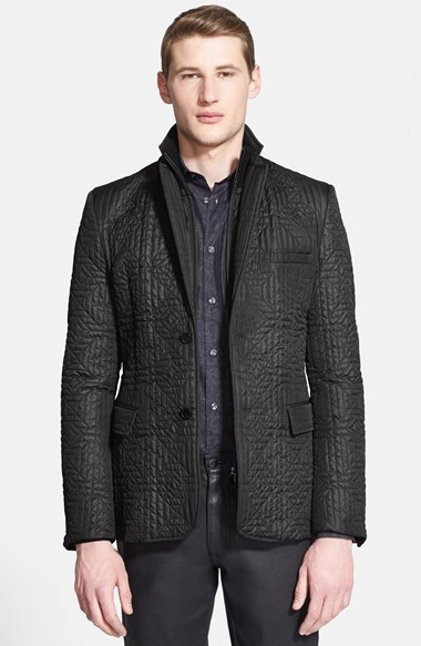 Versace Collection Quilted Blazer | Where to buy & how to wear : quilted blazer - Adamdwight.com