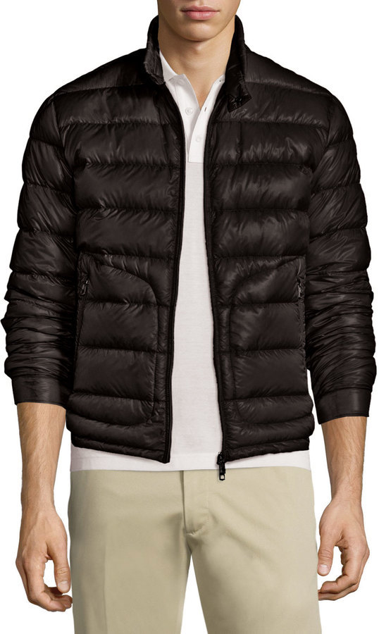 05a89f3ad Acorus Quilted Nylon Puffer Jacket Black